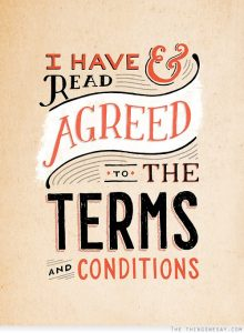 Agreed Terms and Conditions