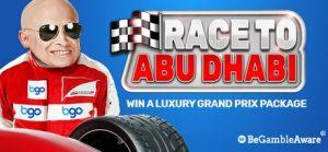 bgo casino abu dhabi formula 1 prize draw