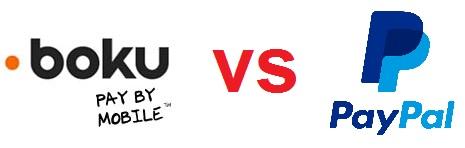 Boku vs Paypal Logos
