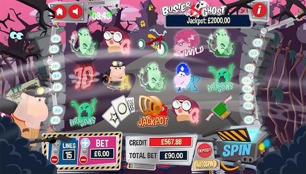 Buster Ghost Slot Reels in Standard Play