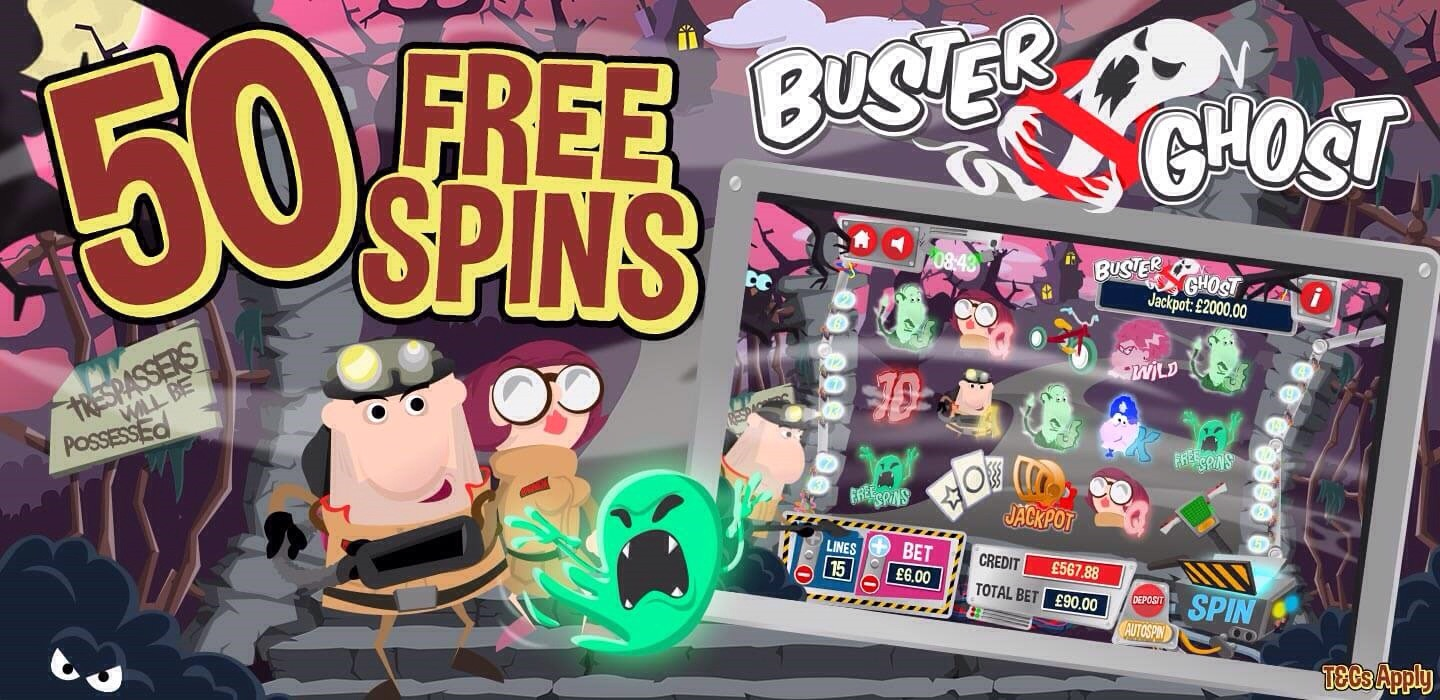 Buster Ghost Slot Promotional Banner
