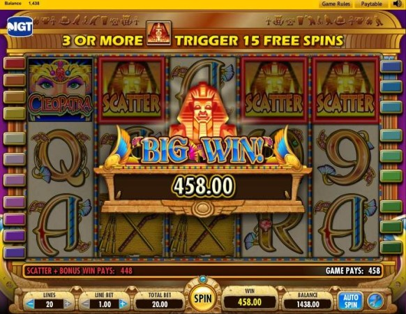 Cleopatra Slot by IGT – Big Win