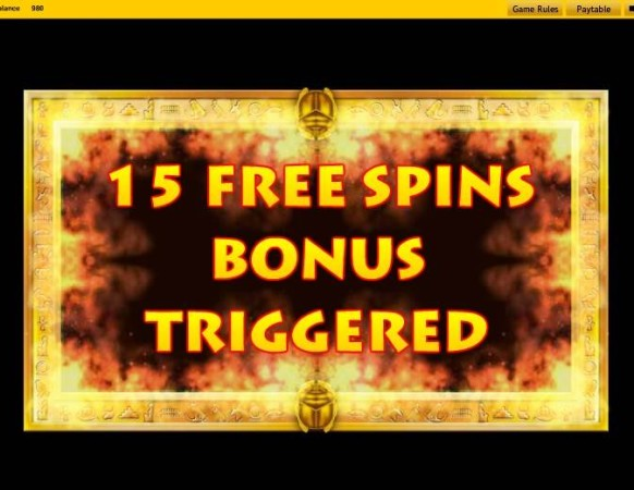 Cleopatra Slot by IGT – Extra Spins Triggered