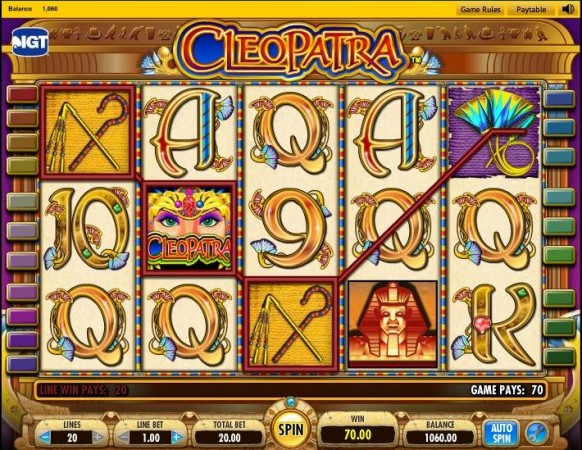 Cleopatra Slot by IGT – Winning Combination