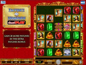 Da Vinci Diamonds Dual Play Gameplay