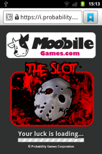 the slot loading screen on moobile games