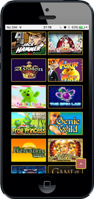 Dream Palace Casino Games on Mobile