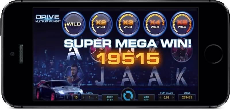 Drive Multiplier Mayhem Super Mega Win