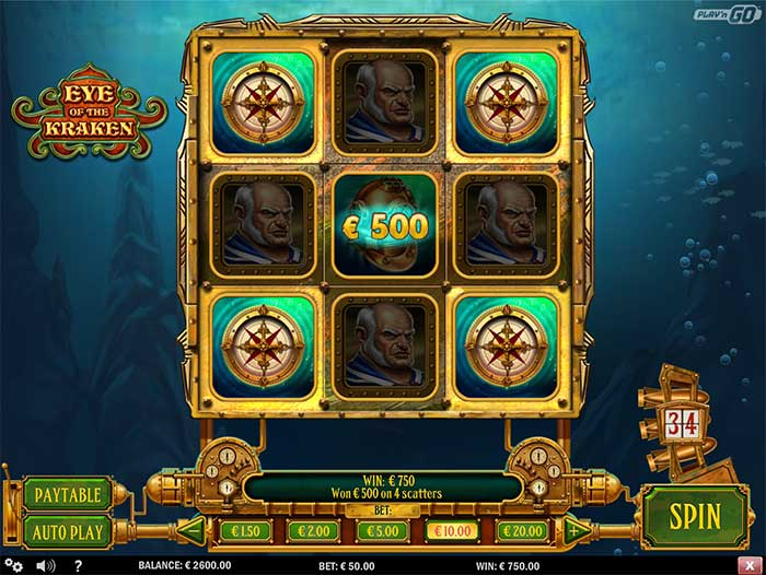 Eye of the Kraken Slot Screenshot