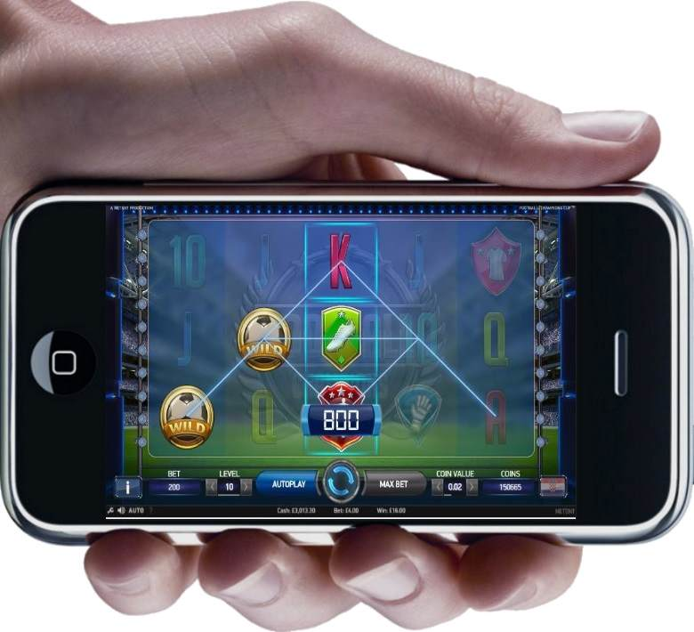 Football Champions Cup Mobile Slot by NetEnt - Wild Win on iPhone