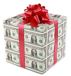 Present Wrapped in Cash