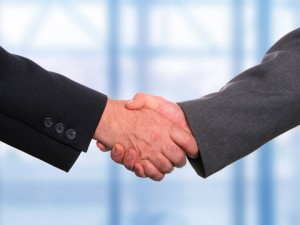 Gaming Industry Handshake
