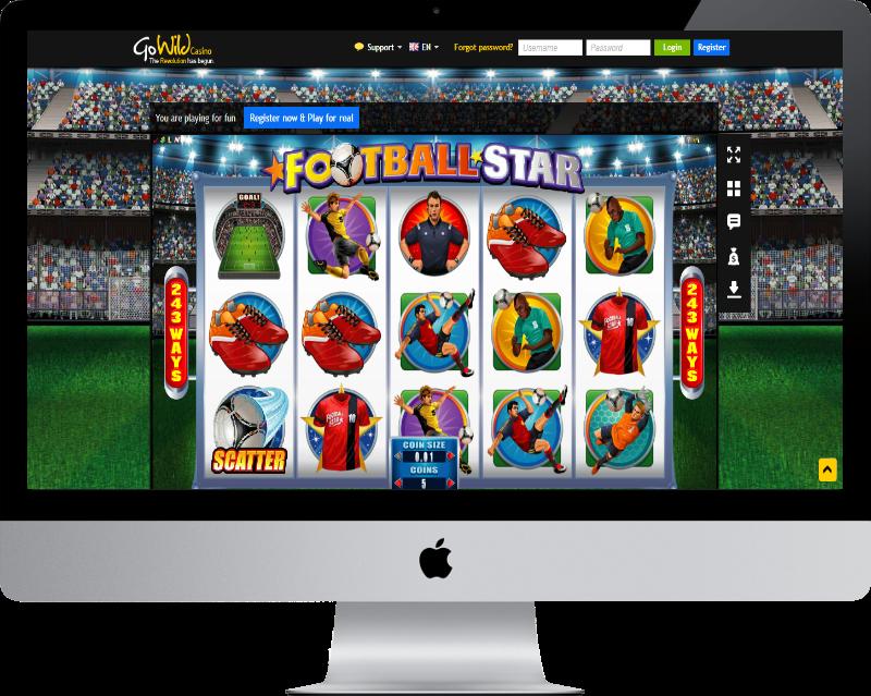 Go Wild casino's Football Star slot