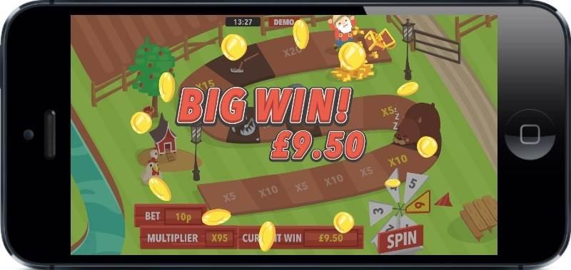 Gold MacDonald Mobile Slot mFortune - Big Win