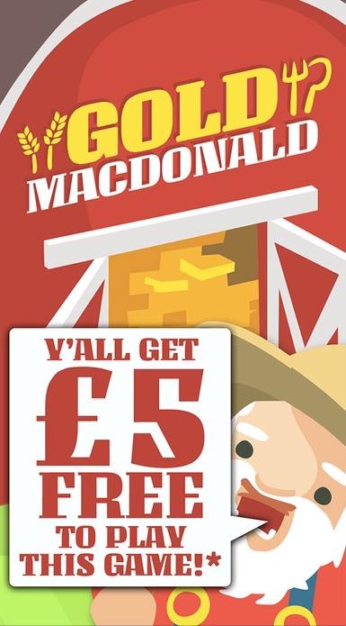 Gold MacDOnald Mobile Slot Free £5 mFortune