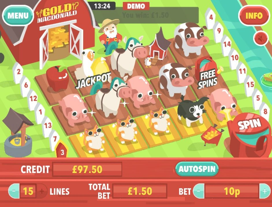 Gold MacDonald Mobile Slot by mFortune – Gameplay