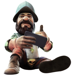 Gonzo Character Playing Mobile Games
