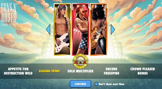 Guns N Roses NetEnt Slot Features
