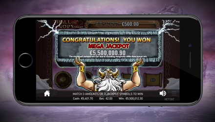 NetEnt to Launch Hall Of Gods Touch Slot On February 16th 2017