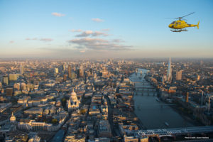 helicopter ride london skyline