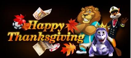 Hippozino Casino Happy Thanksgiving Promotion Banner