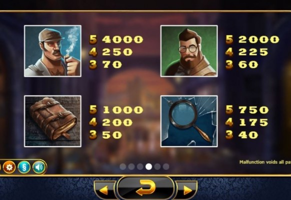 Holmes and the Stolen Stones Slot by Yggdrasil – Paytable
