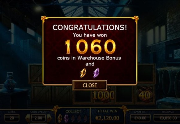 Holmes and the Stolen Stones Slot by Yggdrasil – Warehouse Bonus Game Winnings