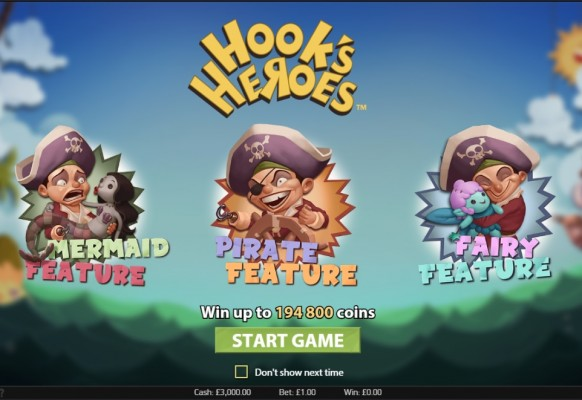 Hook's Heroes Slot by NetEnt – Intro