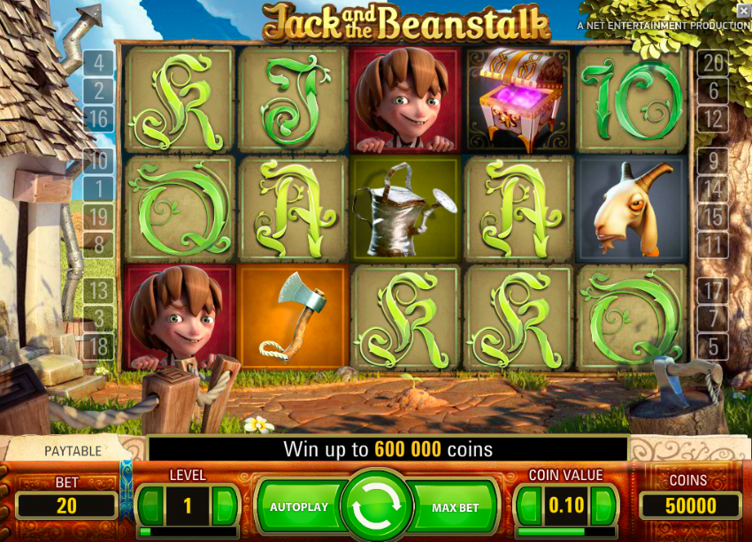 Jack and the Beanstalk NetEnt Screenshot