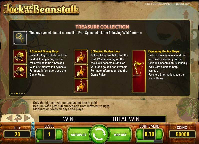 Jack and the Beanstalk Slot by NetEnt - Treasure Collection