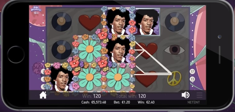Jimi Hendrix NetEnt Slot - Gameplay