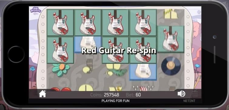 Jimi Hendrix NetEnt Slot - Red Guitar Respin