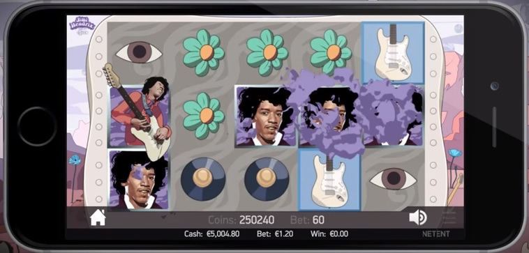 Jimi Hendrix NetEnt Slot Wilds