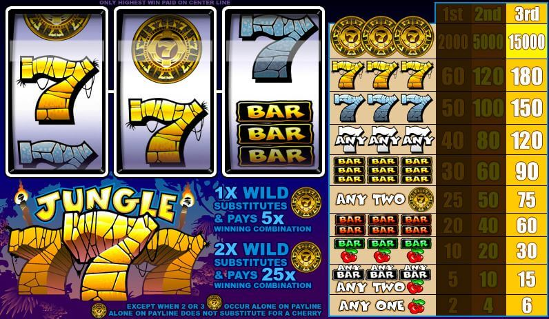 Jungle 7s Mobile Slot