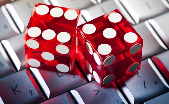 Keyboard Red Die Gambling