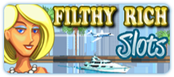 LadyLuck's Filthy Rich Mobile Slot Logo