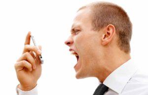 Man Screaming At Phone
