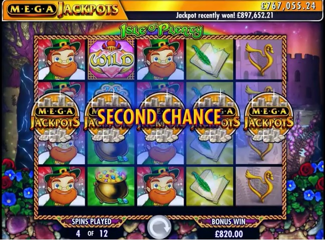 Mega Jackpots: Isle O' Plenty Second Chance Feature
