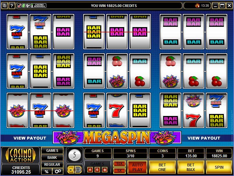 Megaspin High 5 Mobile Slot Microgaming