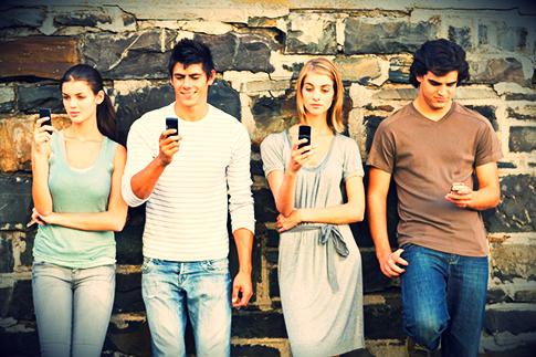 Millennials Using Mobile Phones