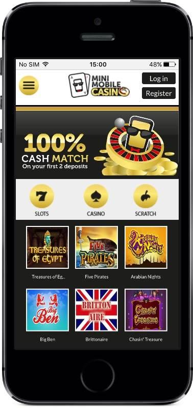 Mini Mobile Casino Lobby on Mobile