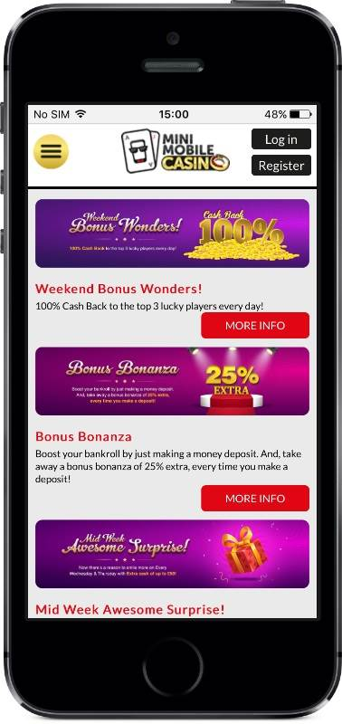 Mini Mobile Casino Promotions on Mobile