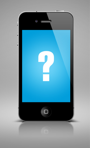 Mobile Screen With Question Mark