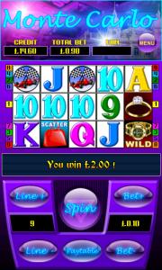 monte carlo mobile slot at mfortune mobile casino