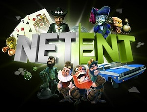 NetEnt Logo With Slot Characters