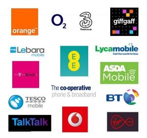 Phone Billing Deposits Service Providers Logos
