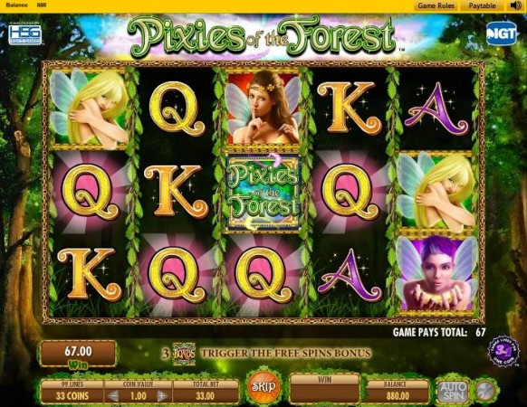 Pixies of the Forest Slot by IGT – Winning Combination