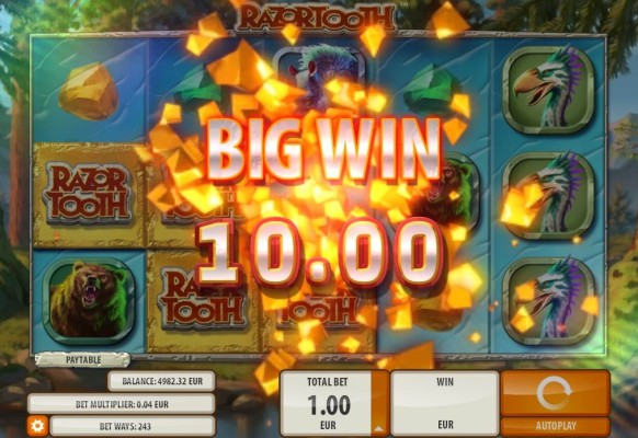 Razortooth Slot by Quickspin – Big Win