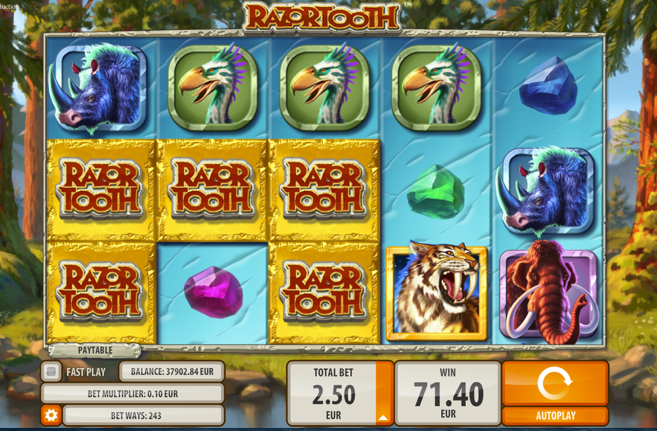 Razortooth Slot By Quickspin - Gameplay Screenshot