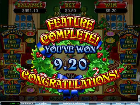 Santastic Slot by Real Time Gaming - Win